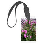 Roses and Trellis Large Luggage Tag