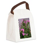 Roses and Trellis Canvas Lunch Bag