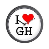 I Love GH Wall Clock
