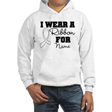 Custom I Wear a Lung Cancer Ribbon Shirts Hoodie