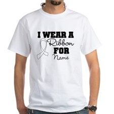 Custom I Wear a Lung Cancer Ribbon Shirts T-Shirt