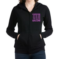 Exercise Eggs Are Sides Bacon Women's Zip Hoodie
