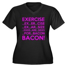 Exercise Eggs Are Sides Bacon Plus Size T-Shirt