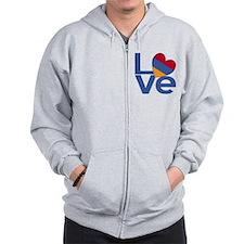 Blue Armenia LOVE Zipped Hoody