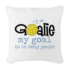 My Goal Is To Deny Yours Woven Throw Pillow