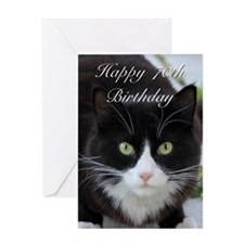 Happy 70th Birthday cat Greeting Cards
