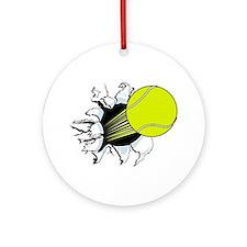 Breakthrough Tennis Ball Ornament (Round)