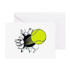Breakthrough Tennis Ball Greeting Card