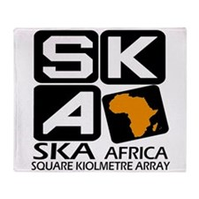 Sq. Km. Array Africa Throw Blanket