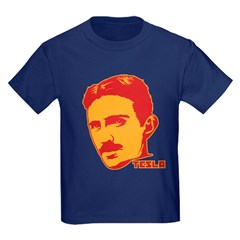 Nikola Tesla Kids Dark T-Shirt