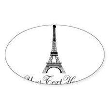 Personalizable Eiffel Tower Decal