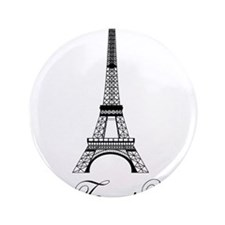 """Personalizable Eiffel Tower 3.5"""" Button (100 pack)"""