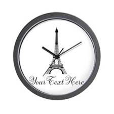 Personalizable Eiffel Tower Wall Clock