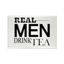 Real Men Drink Tea Magnets