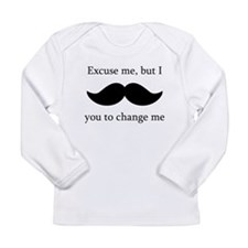 I Mustache You To Change My Diaper Long Sleeve T-S