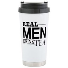 Real Men Drink Tea Travel Mug