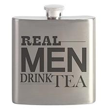 Real Men Drink Tea Flask