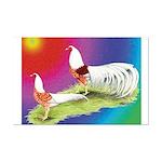 Yokohama Rooster and Hen Mini Poster Print
