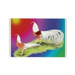 Yokohama Rooster and Hen Rectangle Magnet (10 pack