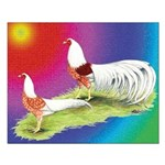 Yokohama Rooster and Hen Small Poster