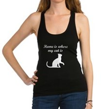 Home Is Where My Cat Is Racerback Tank Top