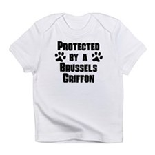Protected By A Brussels Griffon Infant T-Shirt