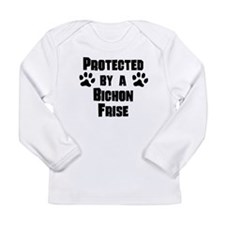 Protected By A Bichon Frise Long Sleeve T-Shirt