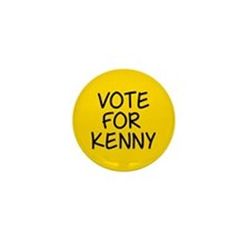 Vote For Kenny Mini Button
