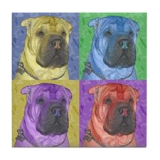 Gus the Shar Pei Tile Coaster