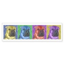 Gus the Shar Pei Bumper Bumper Sticker