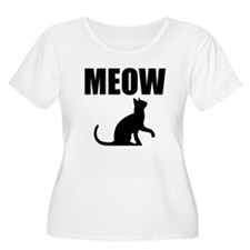 MEOW Plus Size T-Shirt