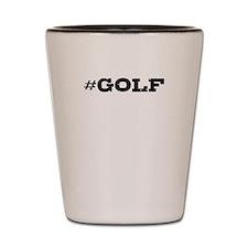 Golf Hashtag Shot Glass