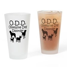 Obsessive Dog Disorder Drinking Glass