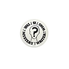 Mystery Writer Mini Button