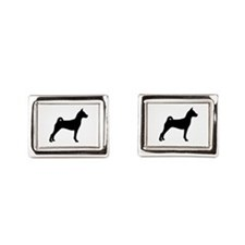 Basenji Dog Rectangular Cufflinks