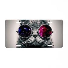 Cool Cat-Galaxy Aluminum License Plate