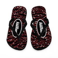 Red Black Glitter Zebra Custom Flip Flops