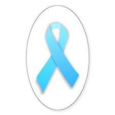 Child Abuse Awareness Ribbon Oval Decal