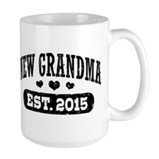New Grandma Est. 2015 Ceramic Mugs