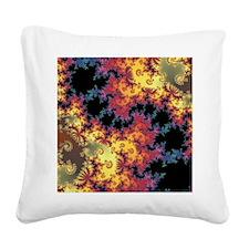 Fun Swirls Square Canvas Pillow