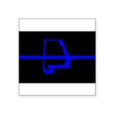 "Cute Blue line police Square Sticker 3"" x 3"""
