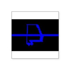 "Funny Police woman Square Sticker 3"" x 3"""