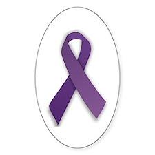 Lupus Awareness Ribbon Oval Decal