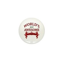 World's Most Awesome 50 Year Mini Button (10 pack)