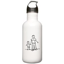 Father and Son Drawing Water Bottle
