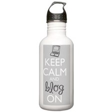 Keep Calm and Blog On Water Bottle