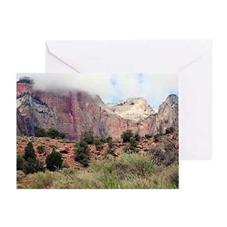 Zion National Park, Utah, USA 4 Greeting Card