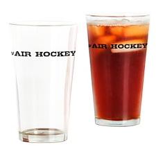 Air Hockey Hashtag Drinking Glass
