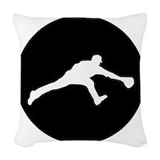 Baseball Fielder Woven Throw Pillow