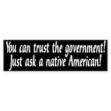 Trust_government3 Bumper Bumper Sticker